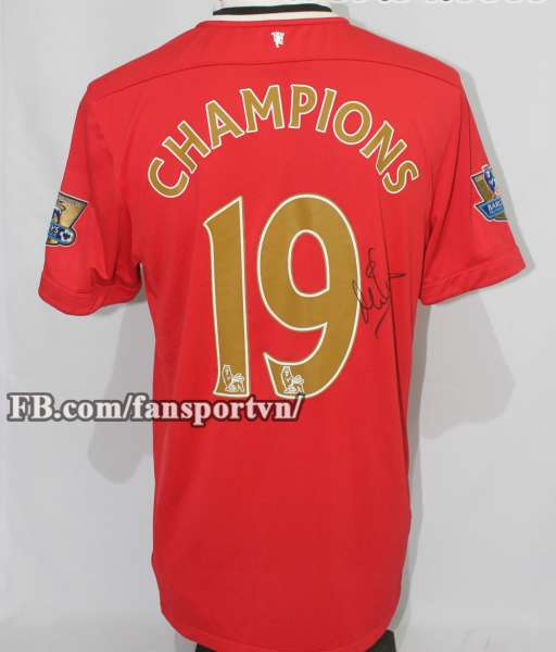 Áo đấu Manchester United Champions 19 chữ ký Owen shirt jersey home