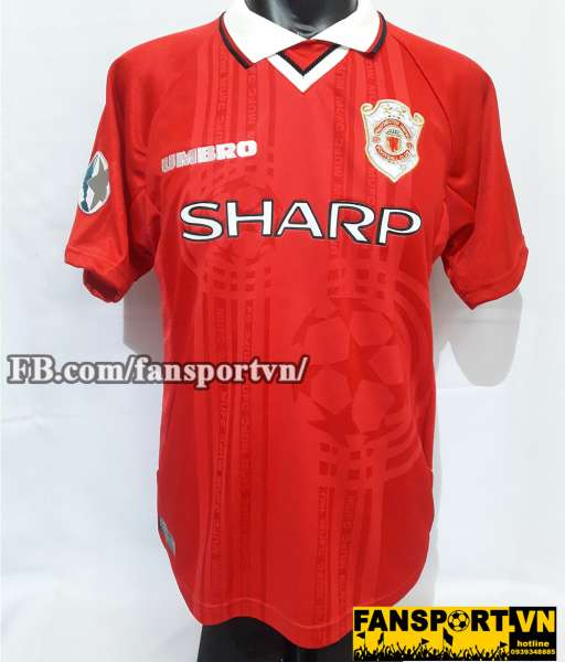 Áo đấu Manchester United UEFA Super Cup 1999 home shirt jersey red