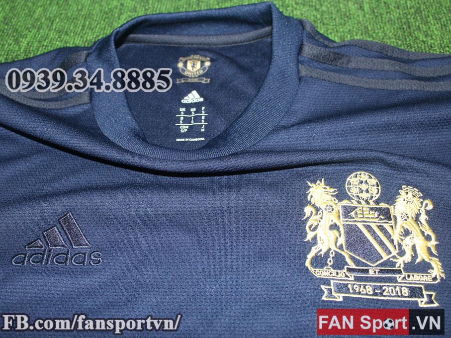 Áo đấu retro Manchester United 1968 special edition jersey blue ... 1977fa762