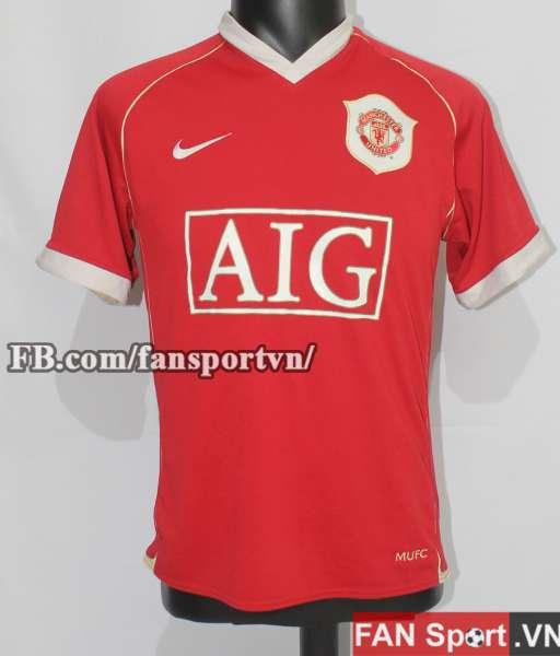Áo đấu Rooney #8 Manchester United 2006-2007 home shirt jersey red