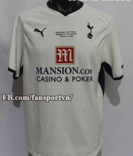 Áo đấu Tottenham Carling Cup final 2009 home 2008 2009 shirt jersey