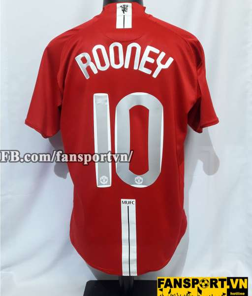 Áo đấu Wayne Rooney #10 Manchester United Champion League Final 2008