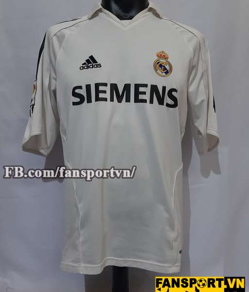 Áo đấu Zidane #5 Real Madrid 2005-2006 home shirt jersey white