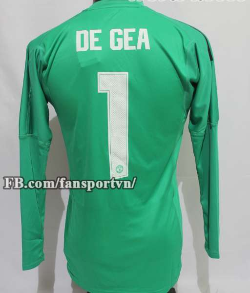 Áo De Gea #1 Manchester United 2018-2019 goalkeeper home green shirt