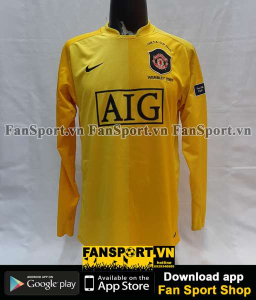 Áo GK Manchester United FA Cup Final 2006-2007 home goalkeeper shirt