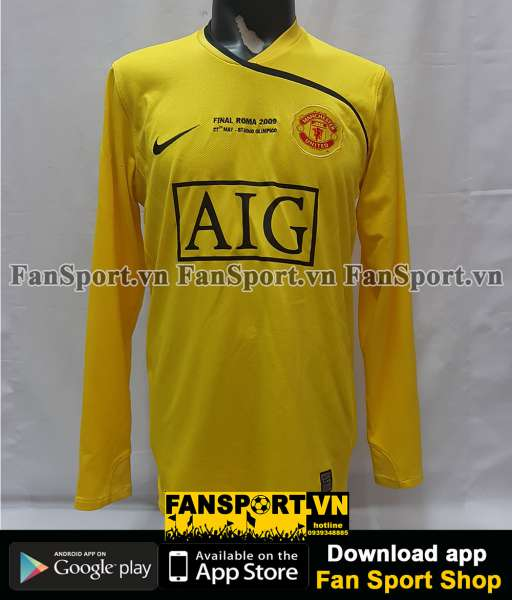 Áo Van Der Sar 1 GK Manchester United Champion League Final 2009 shirt