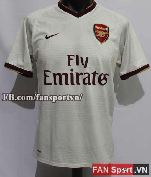 Áo đấu Arsenal 2007-2008 away shirt jersey white