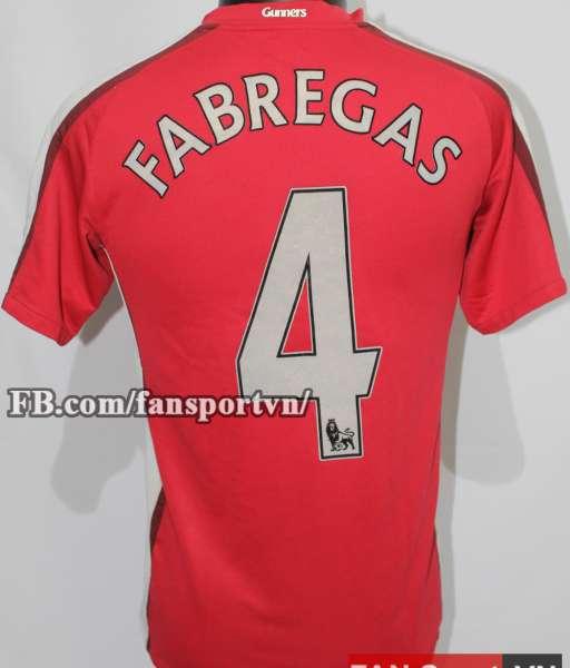 Áo đấu Fabregas #4 Arsenal 2008-2010 home shirt jersey red