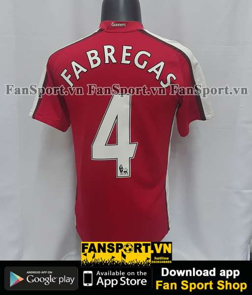 Áo đấu Fabregas #4 Arsenal 2008-2010 home shirt jersey red