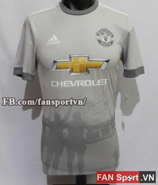 Áo đấu Manchester United 2017-2018 third shirt jersey grey Adizero