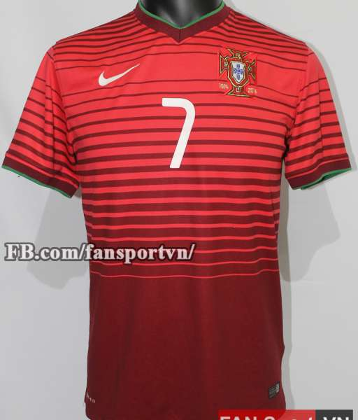 Áo đấu Ronaldo #7 Portugal 2014-2016 home shirt jersey red World Cup