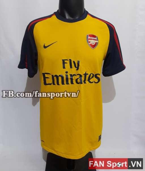 Áo đấu Arsenal 2008-2009 away shirt jersey yellow
