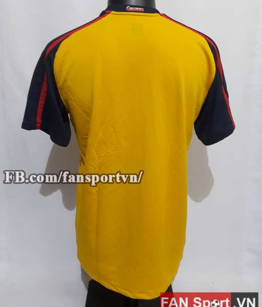 Áo đấu Arsenal 2008-2009 away shirt jersey yellow