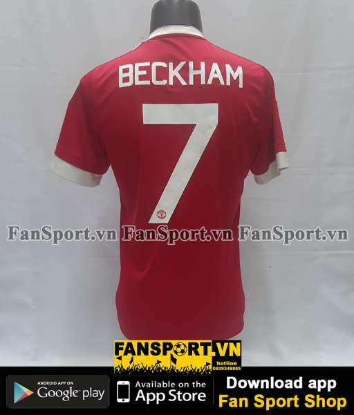 Áo đấu Beckham #7 Manchester United 2015-2016 home shirt jersey red