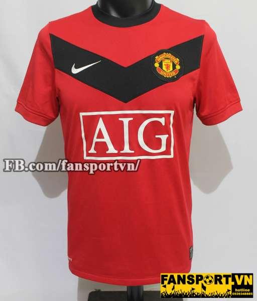 Áo đấu Berbatov #9 Manchester United 2009-2010 home shirt jersey red