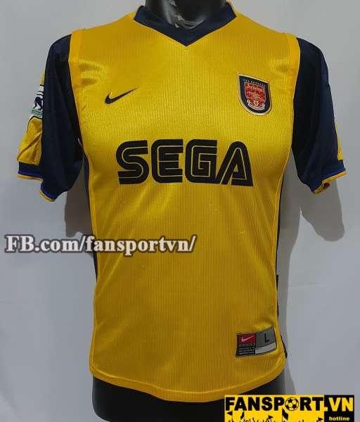 Áo đấu Henry #14 Arsenal 1999-2001 away shirt jersey yellow