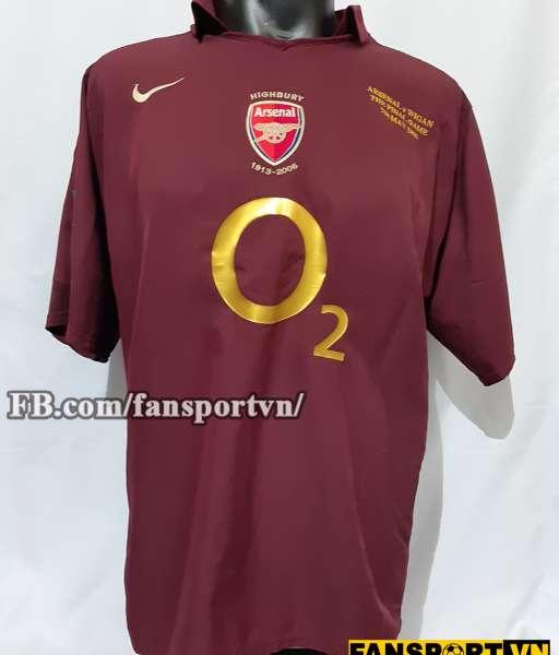 Áo đấu Henry #14 Arsenal Highbury 2005-2006 home shirt jersey red