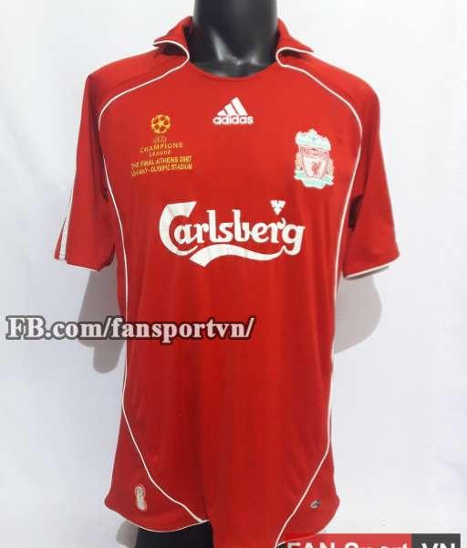 Áo đấu Liverpool Champion League final 2007 home shirt jersey red