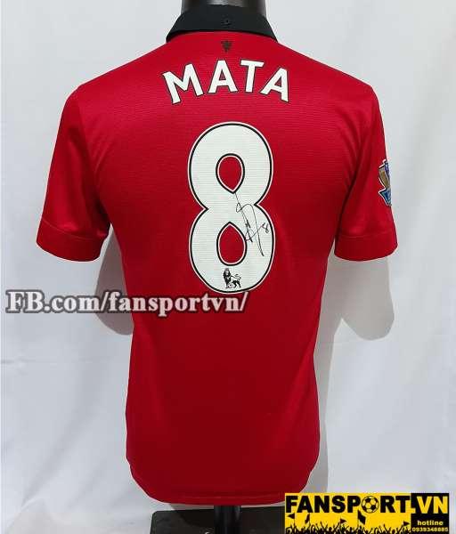 Áo chữ ký Mata #8 Manchester United 2013-2014 home shirt jersey red