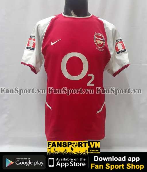 Áo đấu Arsenal FA Cup Final 2003 home shirt jersey red 2002 2004 M