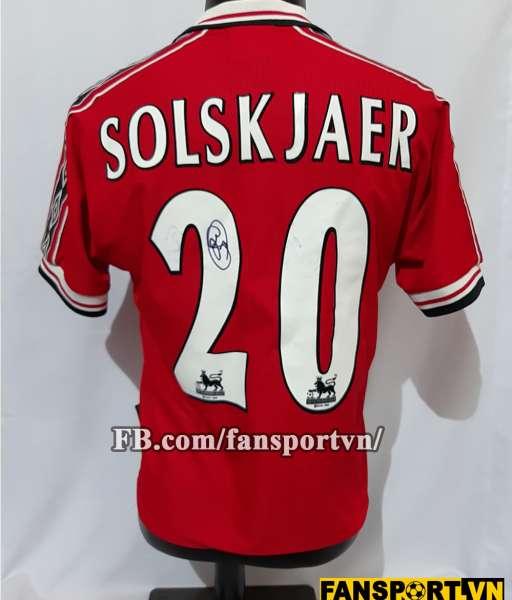 Áo đấu Solskjaer #20 Manchester United 1998-1999-2000 home shirt red