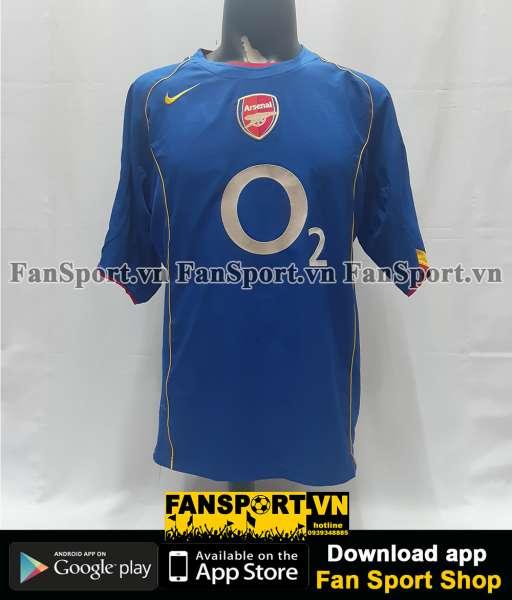 Áo đấu Arsenal Community Shield 2004-2005 away shirt jersey blue