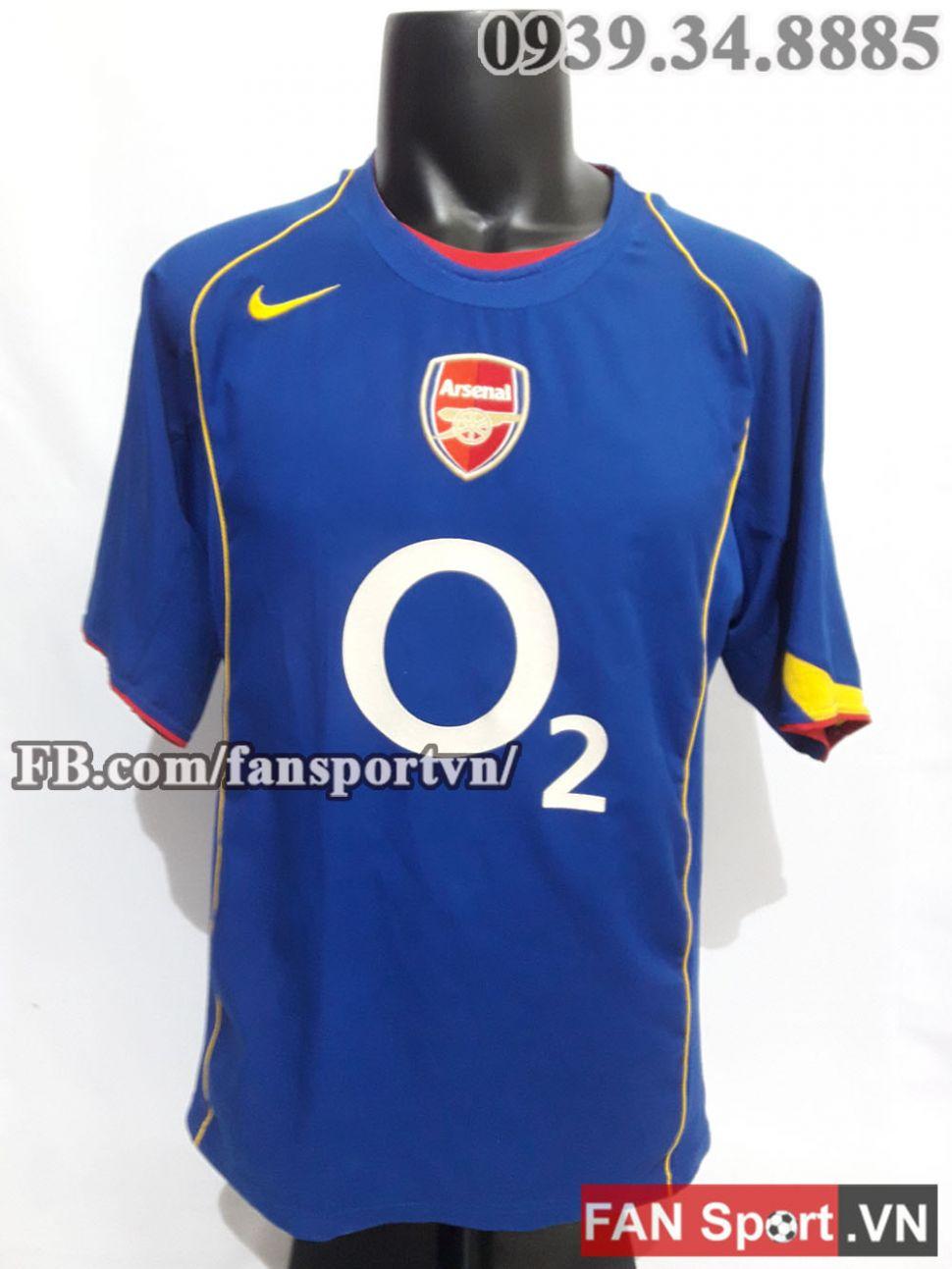 6b3c10a4e Áo đấu Arsenal 2004-2005 away shirt jersey blue size L