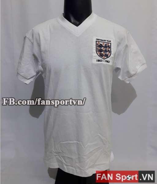 Áo đấu England kỉ niệm 100 từ 1863-1963 home shirt jersey white