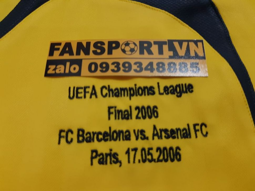 Áo đấu Henry #14 Arsenal Champion League final 2006 away shirt jersey
