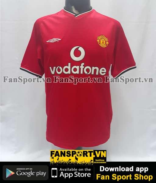 Áo đấu Irwin #3 Manchester United 2000-2002 home shirt jersey red Y
