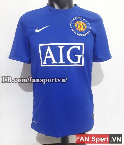 Áo đấu Manchester United 2008-2009 third shirt jersey blue size S