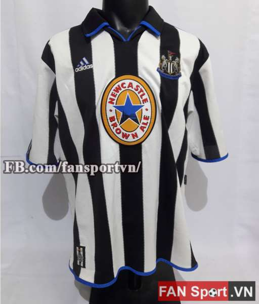 Áo đấu Newcastle United 1999-2000 home shirt jersey white black