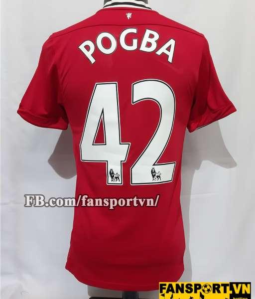 Áo đấu Pogba #42 Manchester United 2011-2012 home shirt jersey red