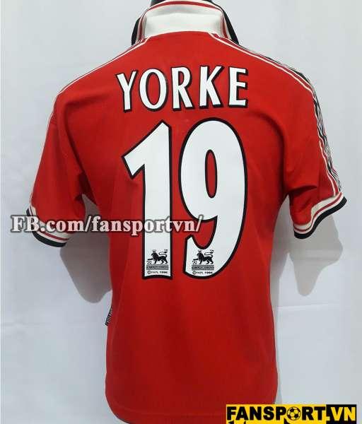 Áo đấu Yorke #19 Manchester United 1998-2000 home shirt jersey red