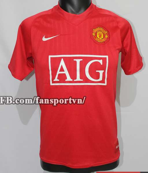 Áo đấu Anderson #8 Manchester United 2007-2009 home shirt jersey red