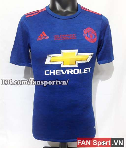 Áo đấu Manchester United Europa League final 2017 away shirt blue
