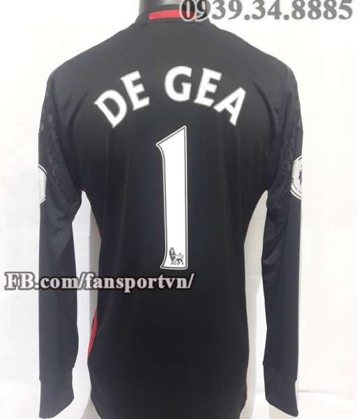 Áo De Gea #1 Manchester United 2016-2017 home goalkeeper shirt black