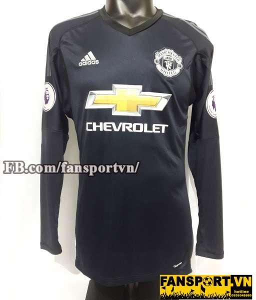 Áo De Gea #1 Manchester United 2017-2018 home jersey shirt goalkeeper