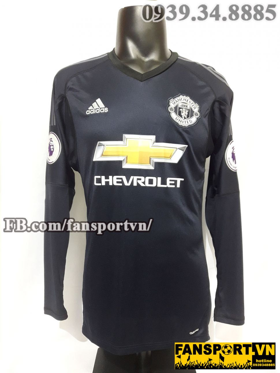 wholesale dealer 95ebc 4a3aa Áo De Gea #1 Manchester United 2017-2018 home jersey shirt ...