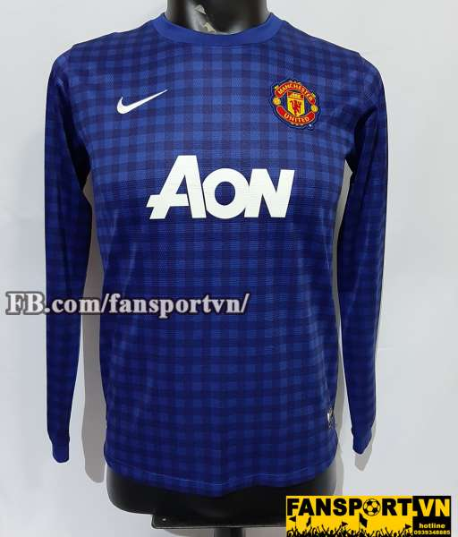 Áo GK De Gea #1 Manchester United 2012-2013 away goalkeeper shirt blue