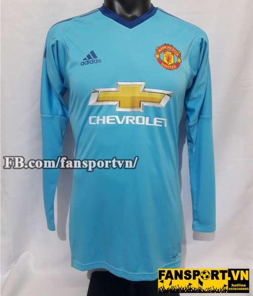 Áo Manchester United 2017-2018 third jersey shirt blue adizero