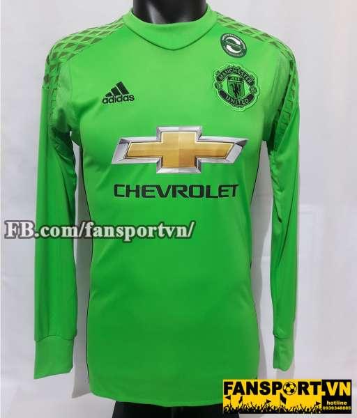 Áo thủ môn Manchester United 2016-2017 away goalkeeper shirt green XS