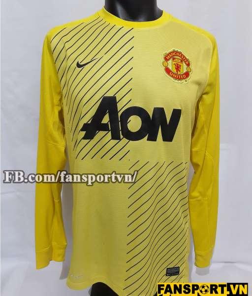 Áo thủ môn Manchester United 2013-2014 away goalkeeper yellow