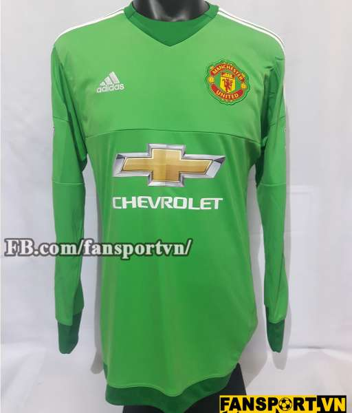 Áo De Gea #1 Manchester United 2015-2016 home goalkeeper green