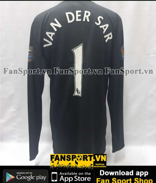 Áo GK Van Der Sar 1 Manchester United 2008-2009 third goalkeeper black