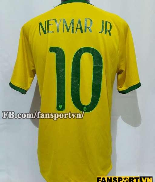 Áo đấu Neymar #10 Brazil 2014-2016 home shirt jersey yellow