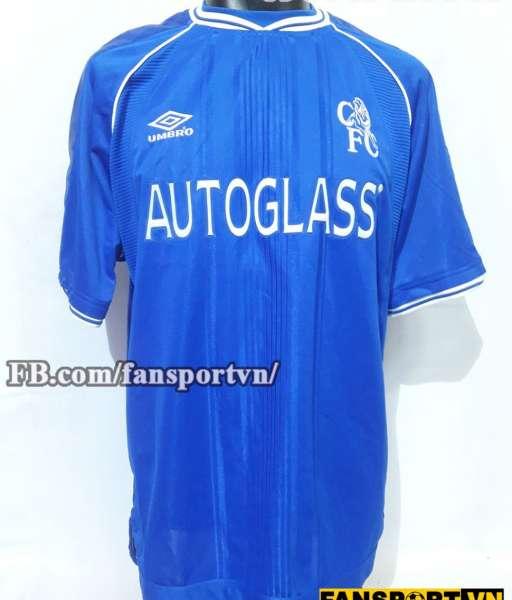 Áo đấu Diggers #10 Chelsea 1999-2001 home shirt jersey blue