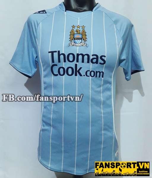 Áo đấu Robinho #10 Manchester City 2007-2008 home shirt jersey blue