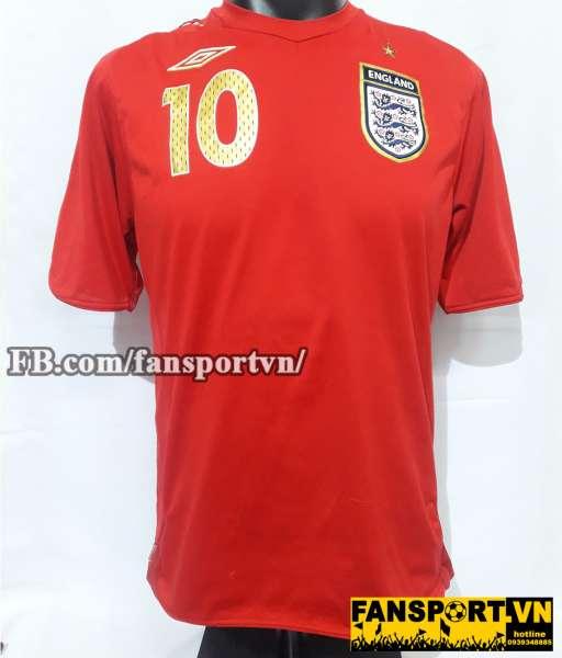 Áo Michael Owen #10 England 2006-2008 away shirt jersey red