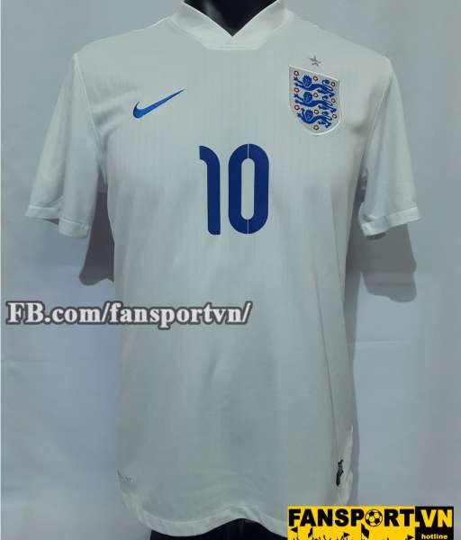 Áo Wayne Rooney #10 England 2014-2016 home shirt jersey white